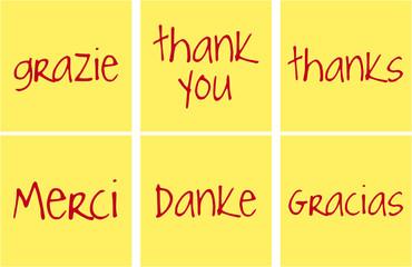 grazie in lingue diverse