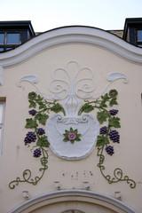 Fassadenbemalung in Alesund (Detail)