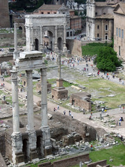Scenic Shot Of The Forum With Columns