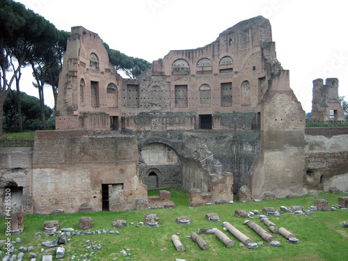 View of Remainder of Palace on Palatine Hill