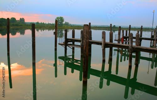 Fotobehang Grote meren Boat Jetti