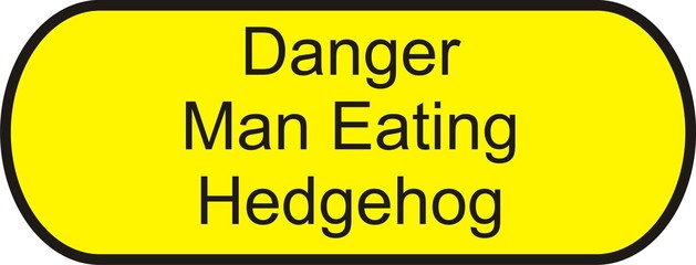 Man Eating Hedghog