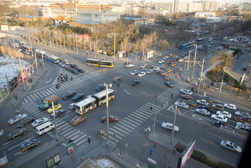 Traffic in downtown Beijing