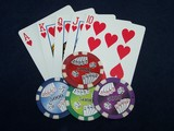 poker royal flush & poker chips