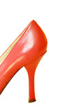 Red Leather High Heel Shoe poster