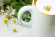 tazza bianca con tè
