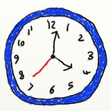 childs clock drawing poster