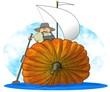 Pumpkin Sailboat
