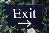 sign. exit. exit sign poster