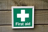 sign. first aid sign poster