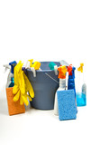 Assorted Cleaning Supplies poster