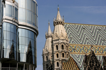 Stephansdom and Haas Haus
