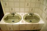 hand basins. wash basins. poster