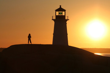 Young Girl at Lighthouse