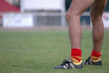 jambe rugbyman