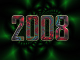 fractal background - 2008 new years eve 2 poster
