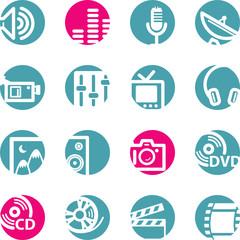 circle media icons