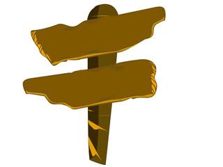 Panneau directionnel en bois