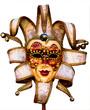 Beautiful venetian mask isolated on white background