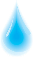 Clean water droplet. Vector illustration