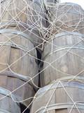Wooden barrels for preserving the herring poster