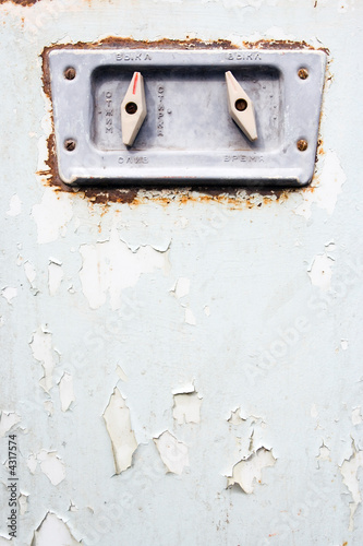 poster of old ragged paint grunge  background with switch