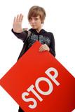 Fototapety stop girl