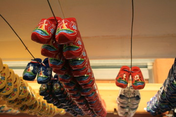Wooden shoes.