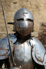 Medieval Knight.Portrait.