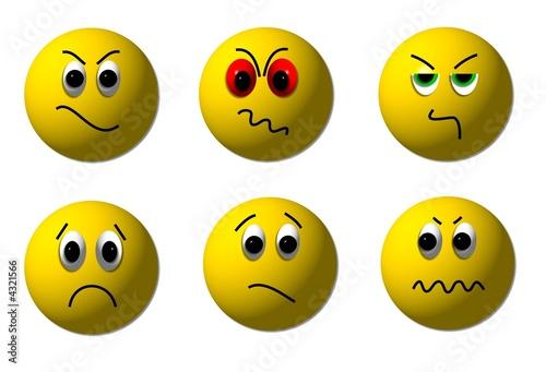 Traurige & Böse Smileys