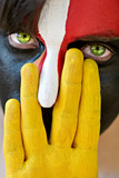 Fototapety Painted face