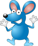 Cartoon mouse poster