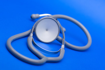 Stethoscope on blue