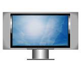 plasma screen tv with sky poster