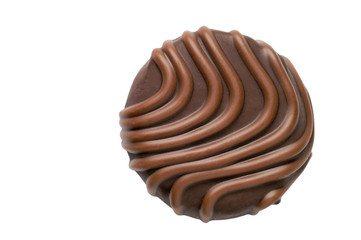 Chocolate candy closeup w/ clipping path