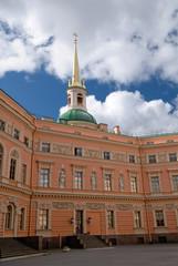 inner yard of the mihailovsky castle, saint-petersburg, russia