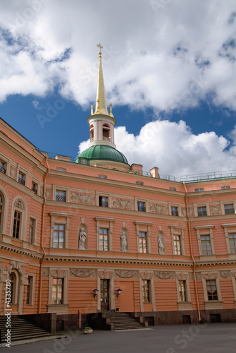 inner yard of the mihailovsky castle, saint-petersburg, russia