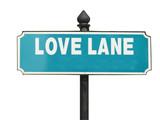 Street sign, Love Lane poster