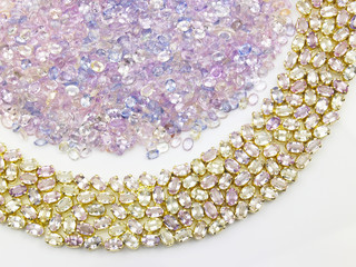 white gems necklace