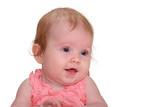 Alert, healthy baby poster