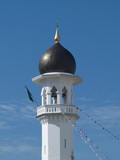 Minaret at the Kapitan Keling Mosque poster