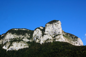 A mountain view in Savoie in France