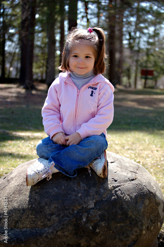 Happy Sitting on a Rock