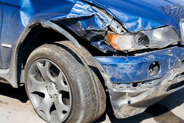 Wrecked Car. Vertical
