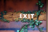 sign. exit sign poster