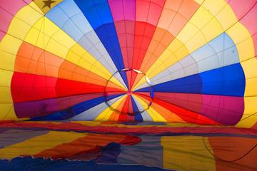 interior of hot air baloon