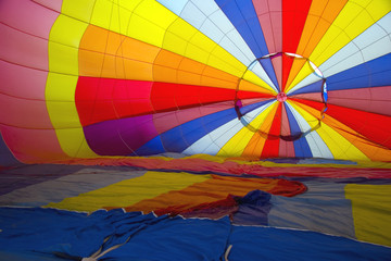 hot air baloon from iside