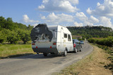 Caravan on its way in France poster