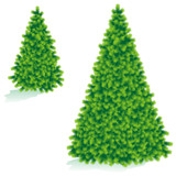 Christmas tree of two sizes poster