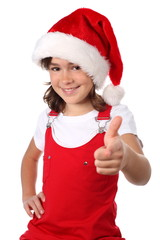 Girl with Santa's hat